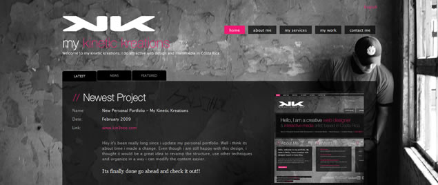 large fullsize photo image background web design inspiration My Kinetic Kreations