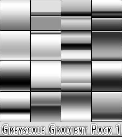 Greyscale Gradient Pack - 16 Gradients