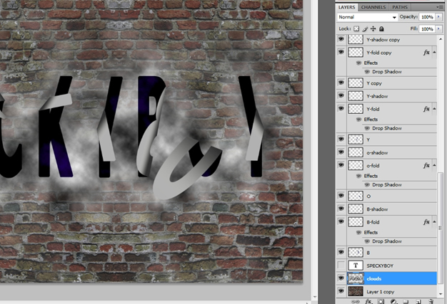 Falling Off Text Effect