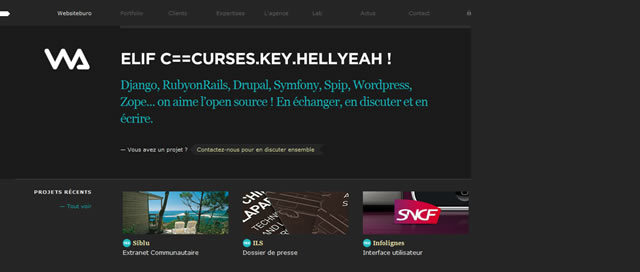 50 Inspiring Examples of Using Black in Web Design