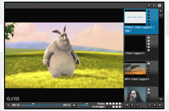 OSM Media Player HTML5 Video
