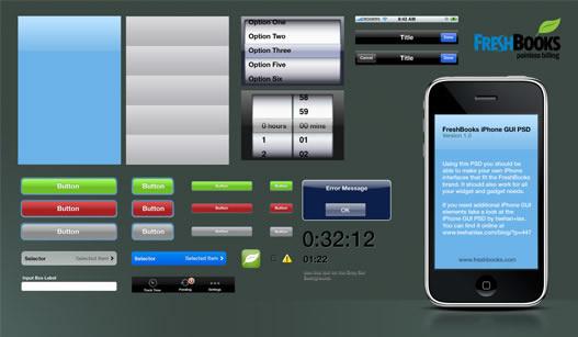 FreshBooks iPhone Application GUI