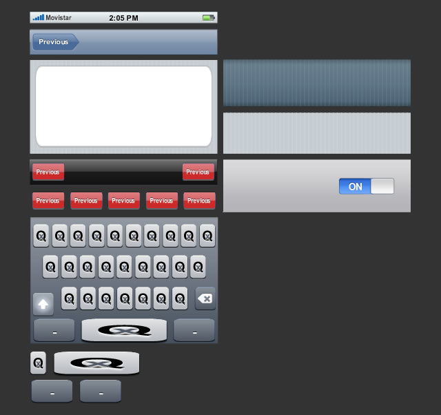 iPhone GUI as Rich Symbols for Fireworks