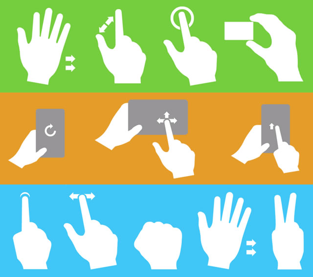 Gesturecons - Multi-Touch Icons