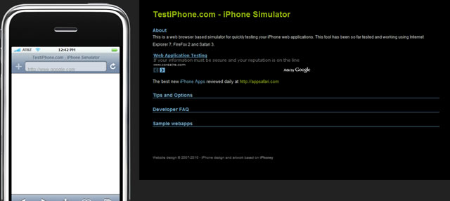 TestiPhone.com - iPhone Application Web Based Simulator