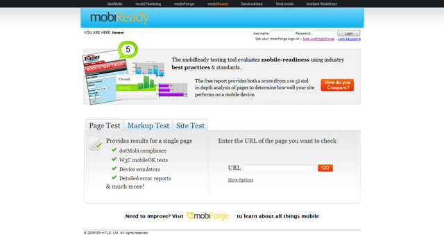 mobiReady - dotMobi Compliance & mobileOK Checker