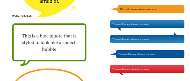 Pure CSS Speech Bubbles