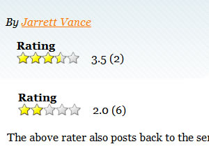 jQuery Rater Plugin for Star Ratings