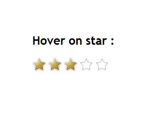 Star Rating using CSS Sprite and jQuery