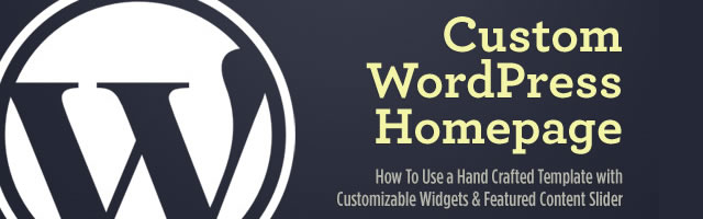 Custom WordPress Homepage with Customizable Widgets