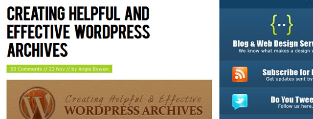 Creating Helpful and Effective WordPress Archives
