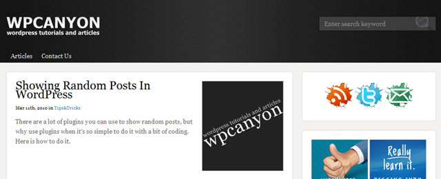 Showing Random Posts In WordPress