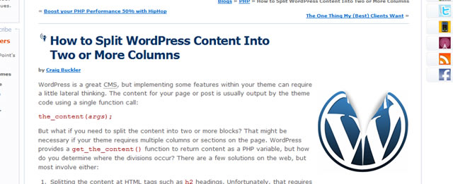 How to Split WordPress Content Into Two or More Columns
