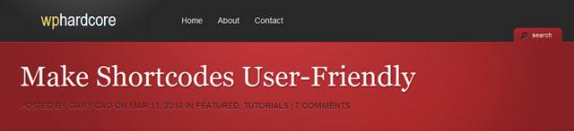 Make Shortcodes User-Friendly