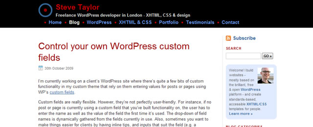 Control your own WordPress Custom Fields
