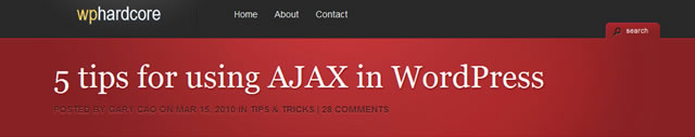 5 Tips for using AJAX in WordPress