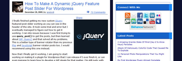 Dynamic jQuery Feature Post Slider For WordPress