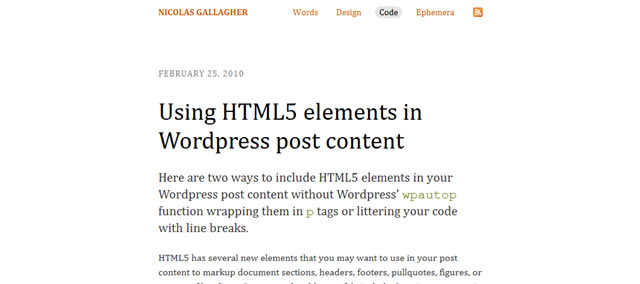 Using HTML5 Elements in WordPress Post Content