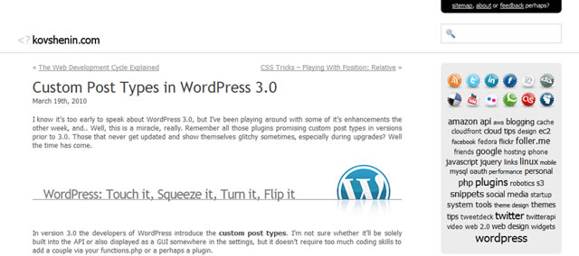 Custom Post Types in WordPress 3.0