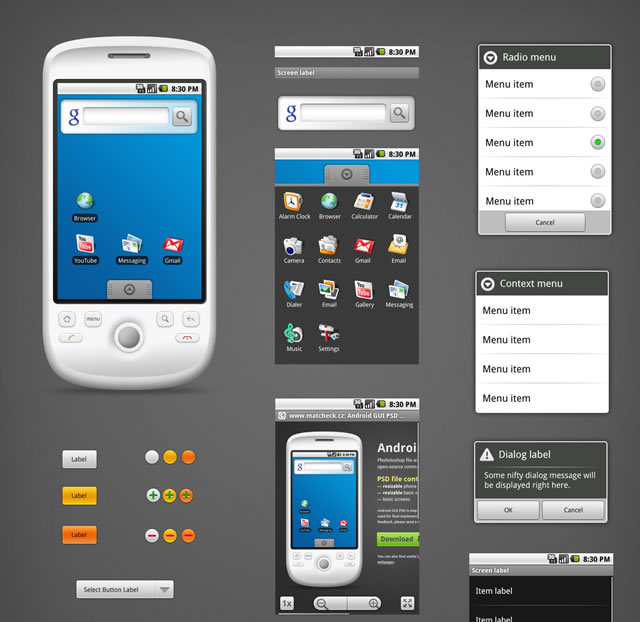 Android App Developers GUI Kits, Icons, Fonts and Tools-极客学院