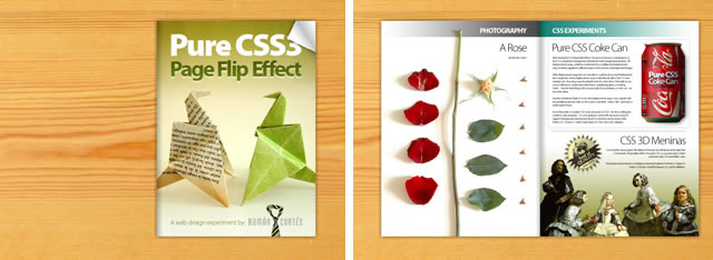 Pure CSS3 Page Flip Effect