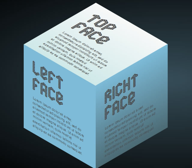 Pure CSS3 Cube