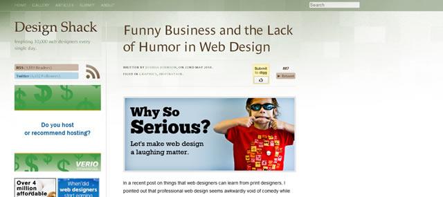 滑稽的行业,缺乏幽默在网络设计
