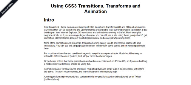 使用对CSS3视线,变换和动画