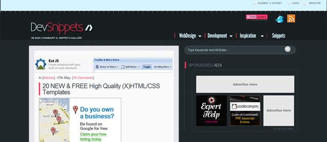 20个新&免费高画质(十)的HTML / CSS模板