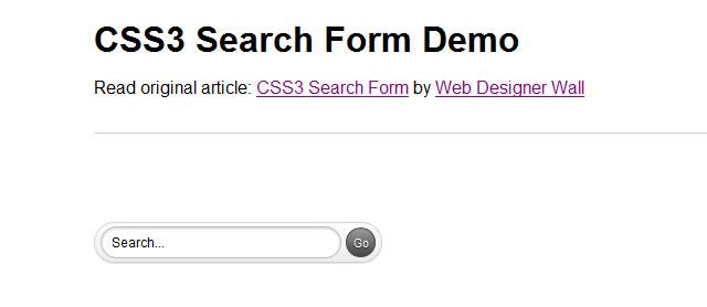 美丽对CSS3搜索表单