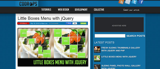 小盒子菜单使用jQuery