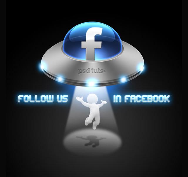 如何创建一个社会媒体飞碟图标
