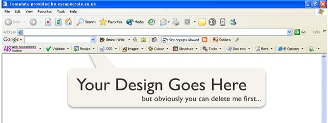 Internet Explorer Browser Template (Windows) for Fireworks