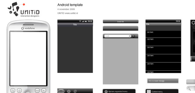 Fireworks GUI Template for Android