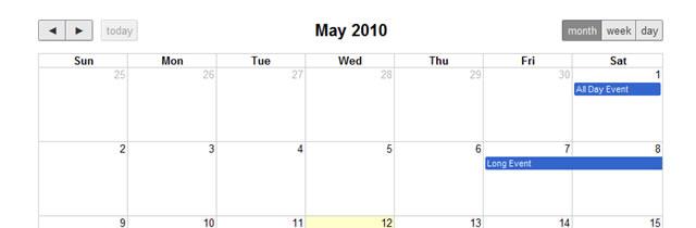 Calendar/Event Scheduler - FullCalendar