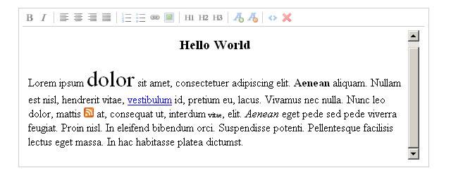 Rich Text Editor - jwysiwyg