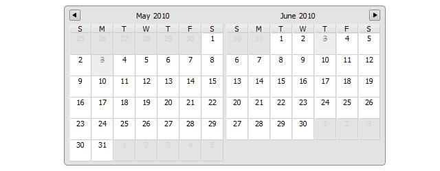 Date Picker- Multiday Calendar Datepicker