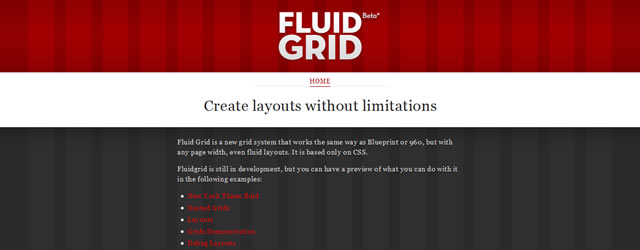 Fluidgrid - A CSS Based Fluid Grid System