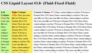 CSS Layout (Fluid-Fluid-Fixed)