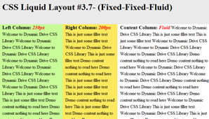 CSS Layout (Fixed-Fixed-Fluid)
