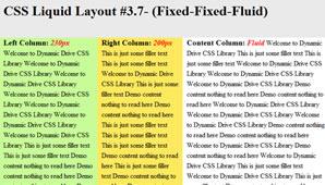 CSS Layout (Fixed-Fixed-Fluid)
