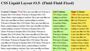 CSS Layout (Fluid-Fluid-Fixed)