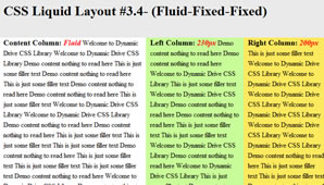CSS Layout (Fluid-Fixed-Fixed)