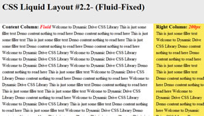 CSS Layout (Fluid-Fixed)
