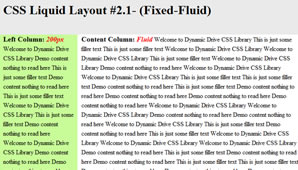 CSS Layout (Fixed-Fluid)