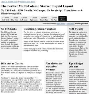 Multi-Column Stacked Liquid Layout