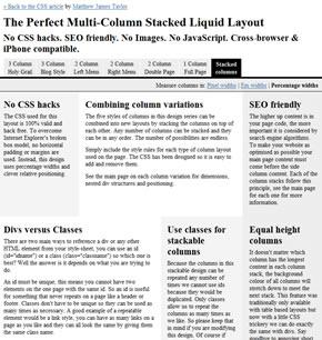 Multi-Column Stacked Liquid Layout