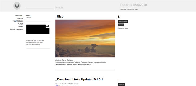 Ulap Theme - Minimal WordPress Themes