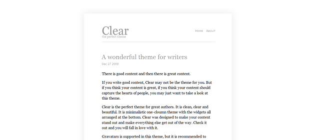 Clear - Minimal WordPress Themes