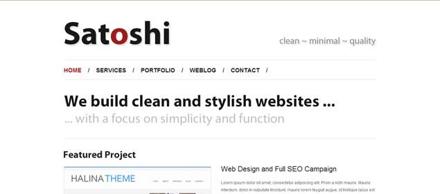 Satoshi - Minimal WordPress Themes